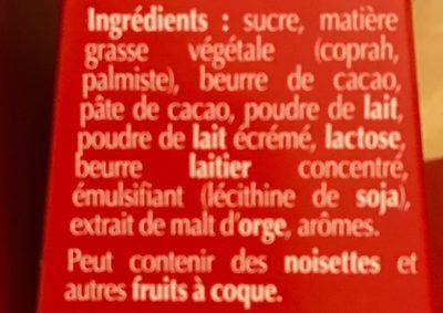 Mini-sapin Lindor Lait - Ingrediënten - fr