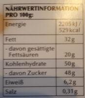 Excellence Fleur de Sel - Nutrition facts