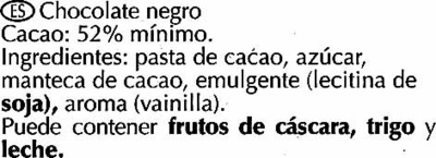Chocolat noir fondants - Ingredientes - es
