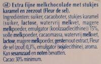 Excellence Milk Sea Salt Caramel - Ingrediënten - nl