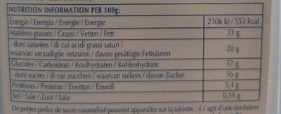 Excellence Milk Sea Salt Caramel - Nutrition facts - en