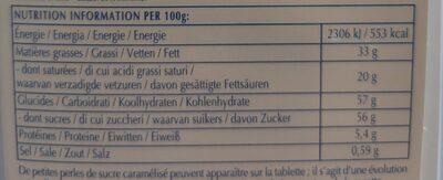 Excellence Milk Sea Salt Caramel - Voedingswaarden - fr