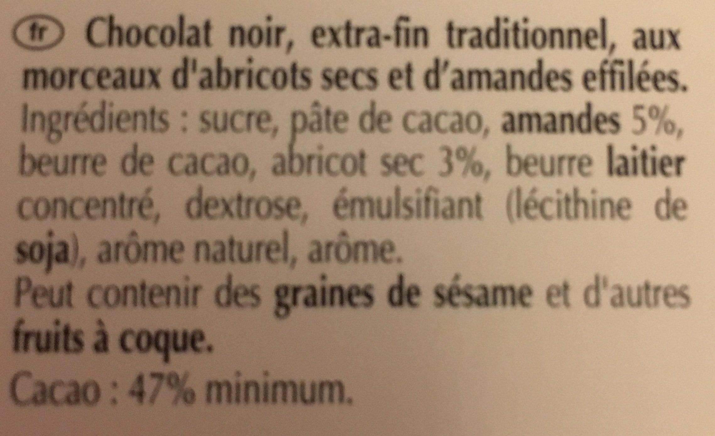 Excellence abricot intense noi - Ingrédients - fr