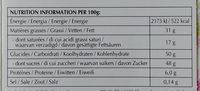 Excellence Pistache Grillée - Voedingswaarden - fr
