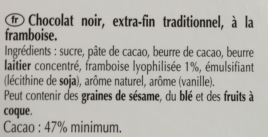 Excellence Framboise intense - Ingredients