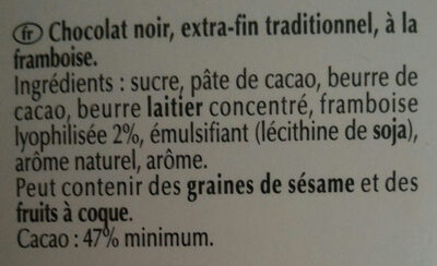 Framboise intense - Ingredients - fr