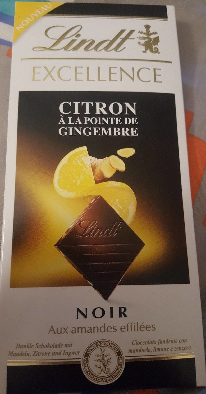 Excellence - Chocolat noir citron gingembre - Product - fr