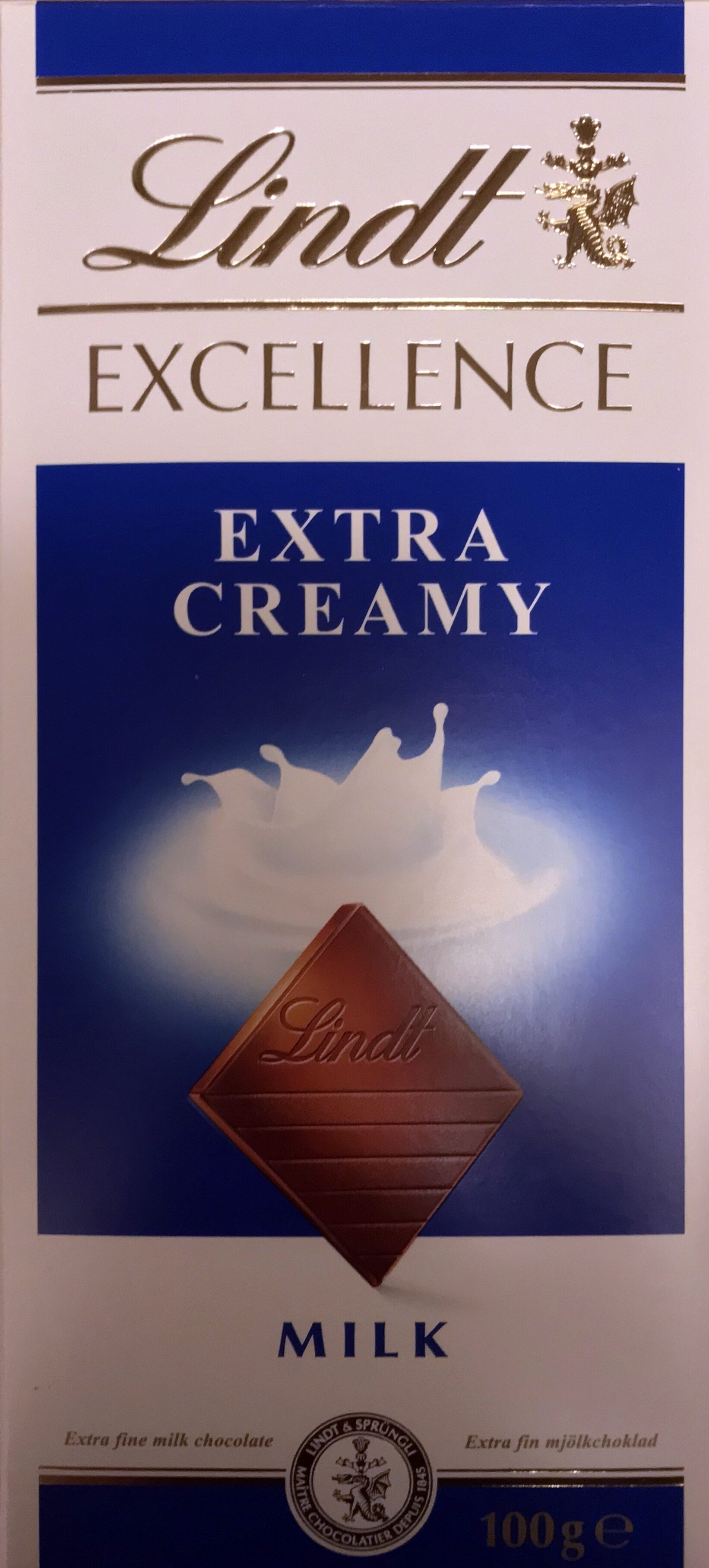Lindt Excellence Extra Creamy Milk - Product - en