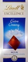 Lindt Excellence Extra Creamy Milk - Produit - fr