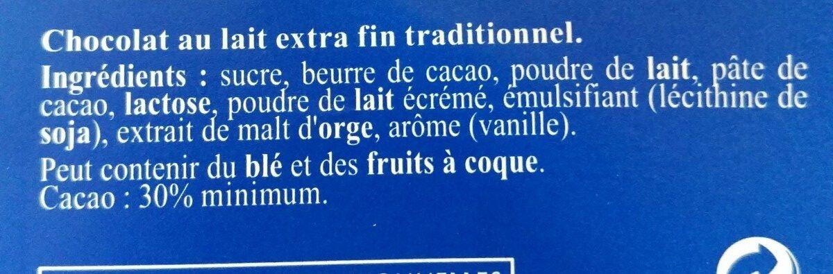 Chocolat Lait Extra Fin - Ingredients