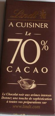 A Cuisiner le 70% Cacao - Produit