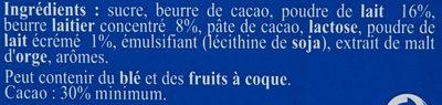 Tablette Recette Originale Double Lait - Ingrédients - fr