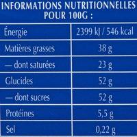 Tablette Recette Originale Double Lait - Informations nutritionnelles - fr