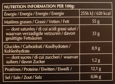 Excellence - 100% cacao noir infini - Informations nutritionnelles - fr