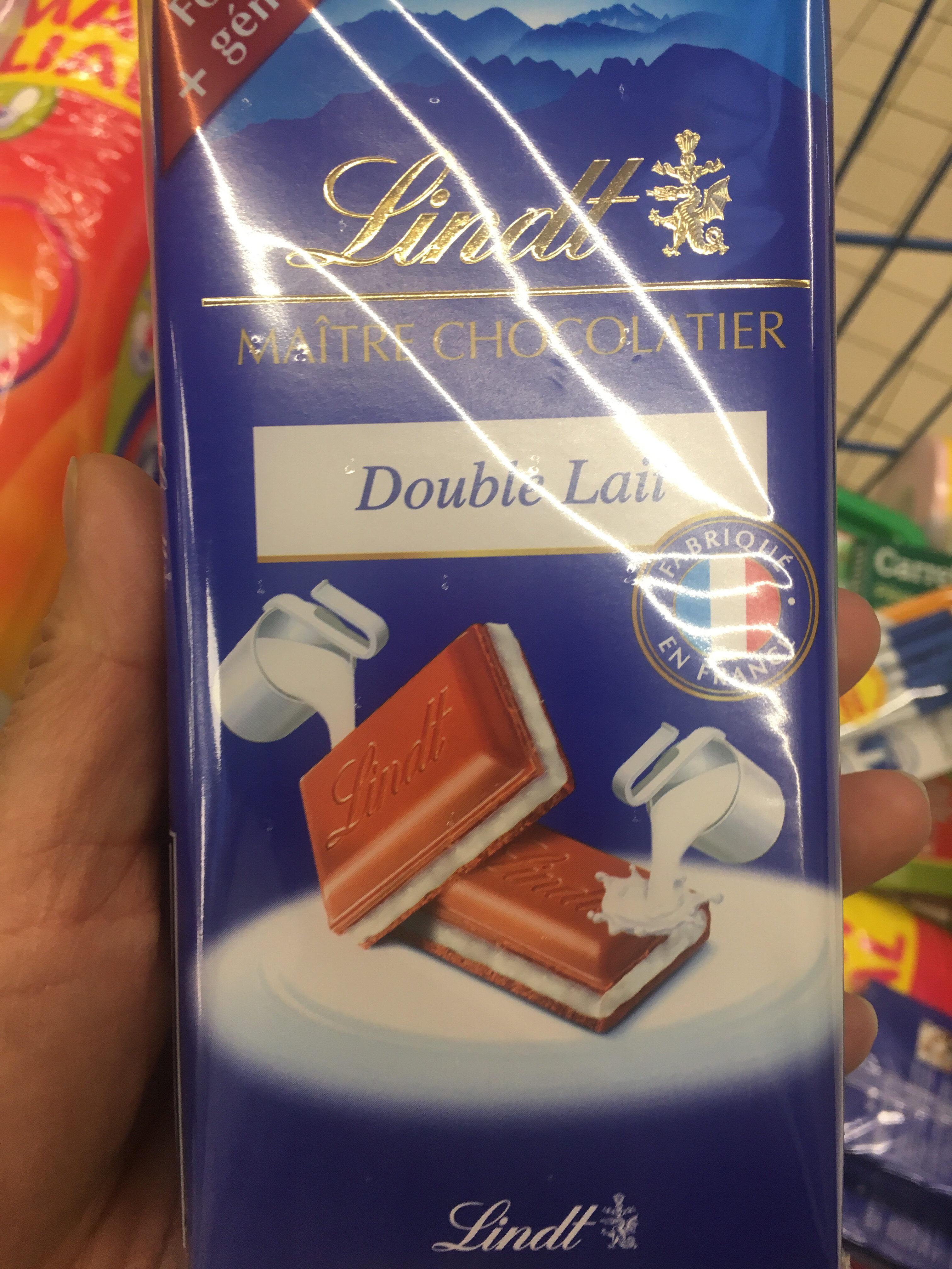 Lindt maître  chocolatier double lait - Product