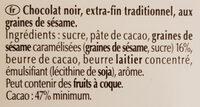 Excellence Sésame Grillé - Ingrediënten - fr