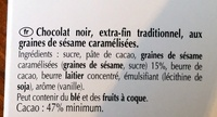 Excellence Sésame Grillé - Ingredients