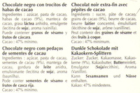 Excellence Pépites de cacao noir - Ingredients