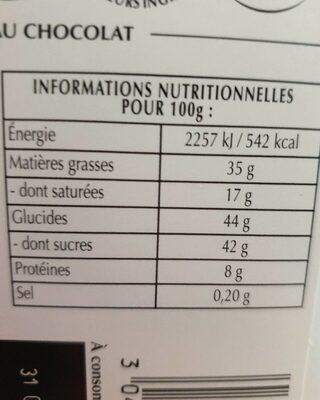 Chocolat noir pointe de sel amandes - Nutrition facts - fr
