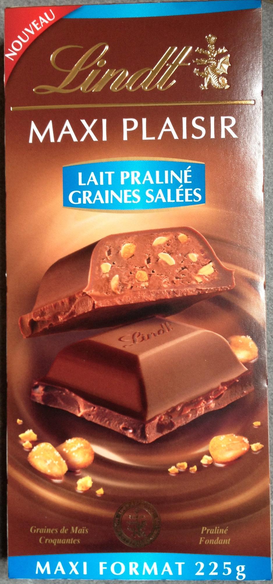 Maxi plaisir. Lait praliné graines salées - Product - fr