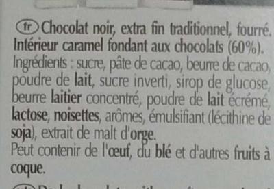 Connaisseurs Caramel Fondant Chocolat Noir - Ingrediënten