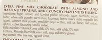 Creation Divine Hazelnut Milk Chocolate - Ingredients