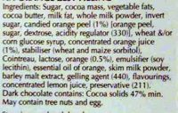 Xocolata Negra Creation Tòfona I Taronja Lindt - Ingredients - en