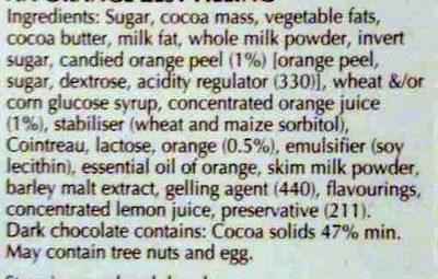 Xocolata Negra Creation Tòfona I Taronja Lindt - Ingredients