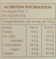 Xocolata Negra Creation Tòfona I Taronja Lindt - Nutrition facts - en