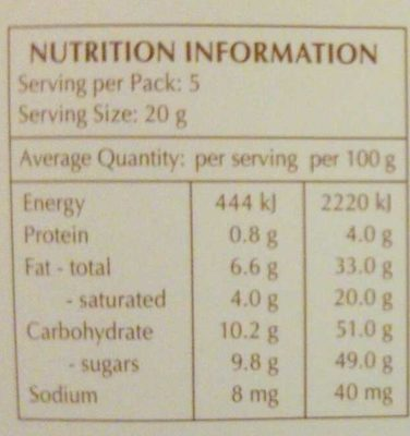 Xocolata Negra Creation Tòfona I Taronja Lindt - Nutrition facts
