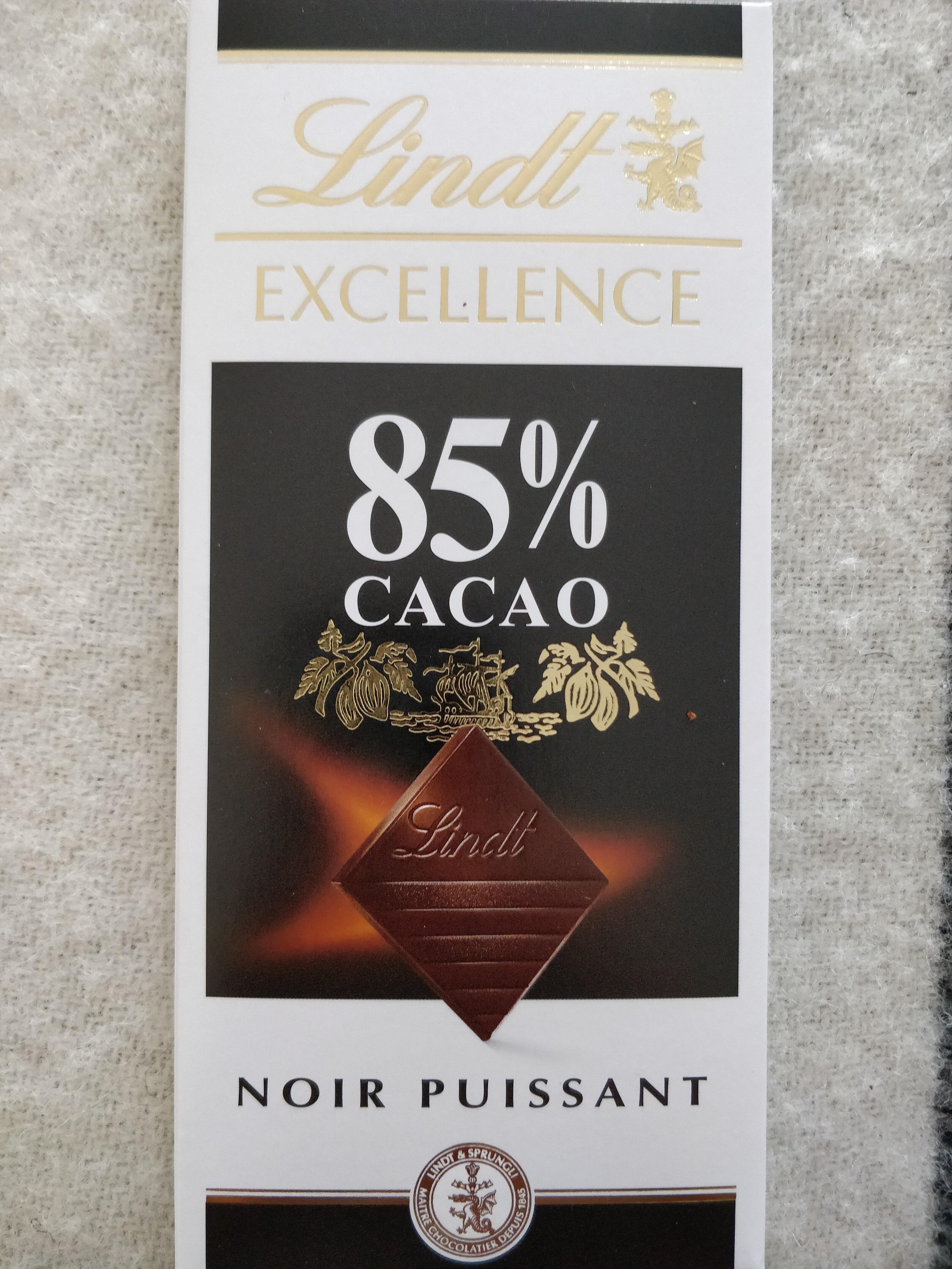 Excellence 85% Cacao Chocolat Noir Puissant Lindt % Lindt - Product - en