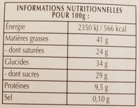 Excellence 70% Cacao Noir Intense - Nutrition facts - fr