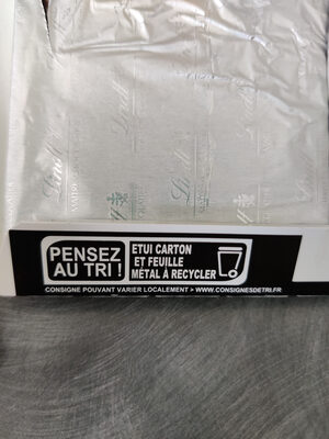 Excellence - Chocolat noir orange intense - Recycling instructions and/or packaging information - fr