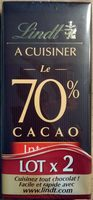 Le 70% cacao à cuisiner (Lot x 2) - Product - fr