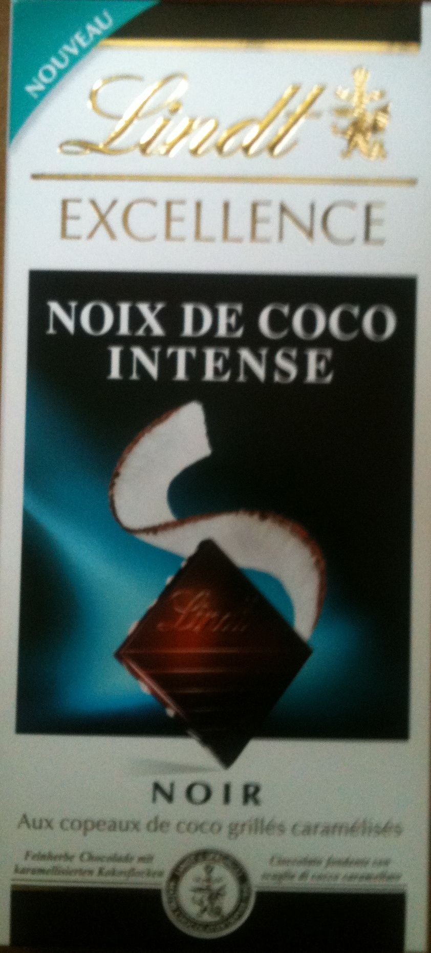 Lindt Excellence Noix de Coco Intense - Product