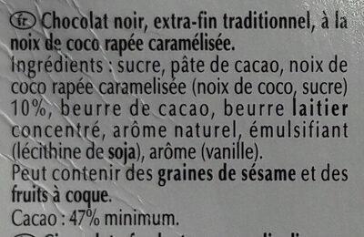 Excellence Noix de Coco Intense Noir - Voedigswaarden