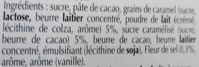 Excellence Caramel à la Pointe de sel - Ingrédients - fr