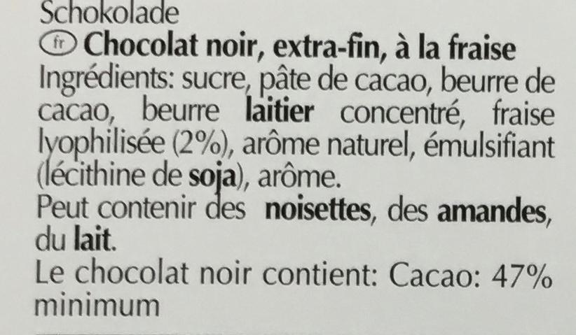 Excellence strawberry intense - Ingrediënten - fr