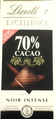 Chocolat Noir Intense Excellence 70% cacao - Product