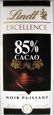 excellence 85 cacao noir puissant lindt 100 g. Black Bedroom Furniture Sets. Home Design Ideas