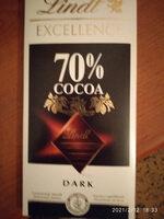 Lindt Excellence Dark Chocolate Bar - 70% - نتاج - ar