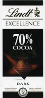Lindt Excellence Dark Chocolate Bar - 70% - Produkt - cs