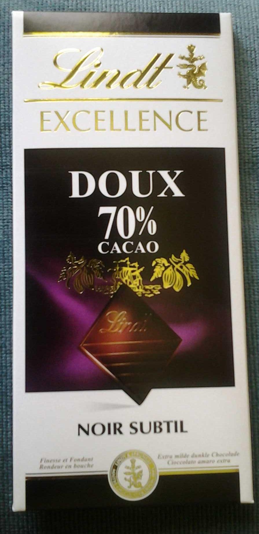 Lindt Excellence Dark Chocolate Bar - 70% - Produit - fr