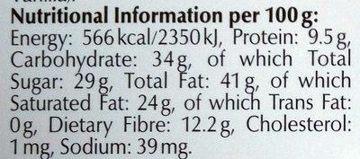 Excellence dark 70% cocoa - Hranljiva vrednost