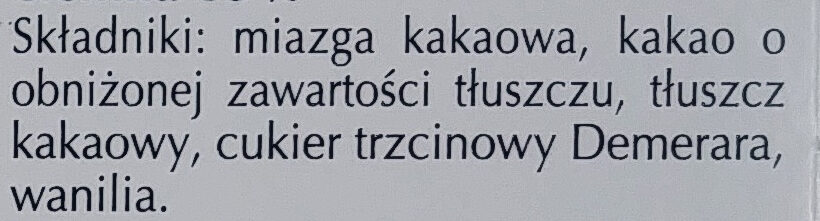 Excellence dark 85% cocoa - Składniki - pl