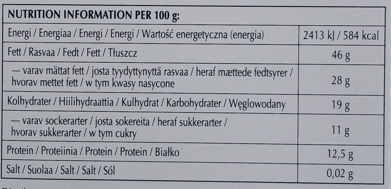 Excellence dark 85% cocoa - Wartości odżywcze - pl
