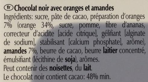 Lindt Excellence Orange Intense - Ingredienser