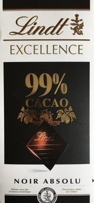 Chocolat Noir Excellence 99% de Cacao - Prodotto