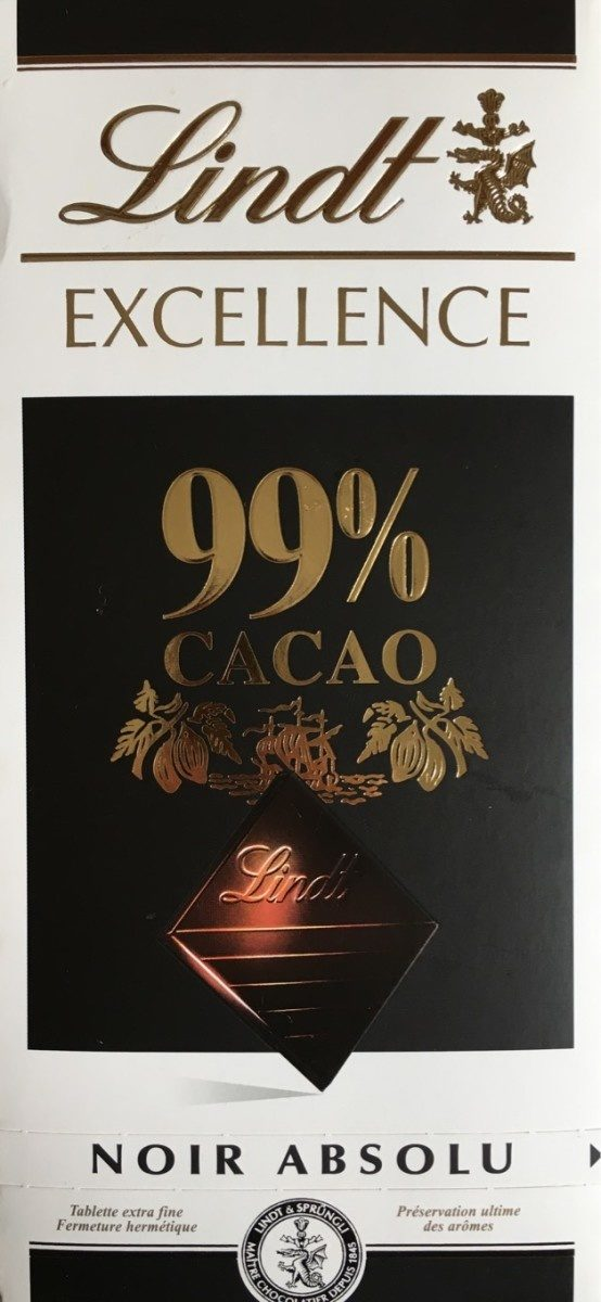 Excellence 99% Cacao Noir Absolu - Lindt - 50 g