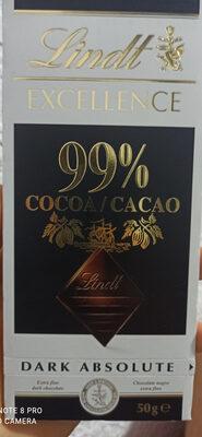 Excellence 99% Cacao - Noir absolu - Información nutricional - es